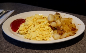 Scrambled eggs and Potatoes